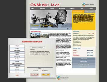 OnMusic Jazz course website