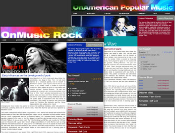 C4E course website: OnMusic Rock and American Pop Music